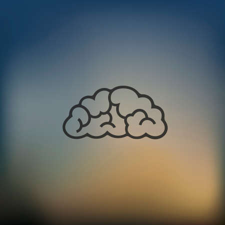 precipitation: cloud icon on blurred background Illustration