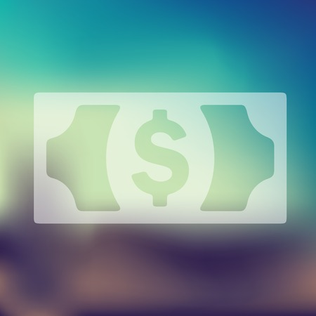 currency glitter: money icon on blurred background