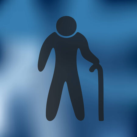 glow stick: grandpa icon on blurred background