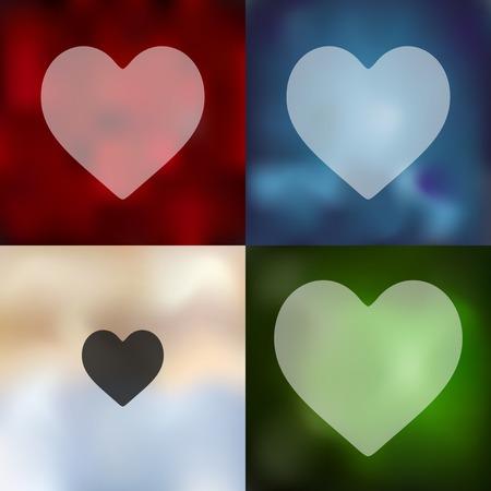 seducer: heart icon on blurred background Illustration