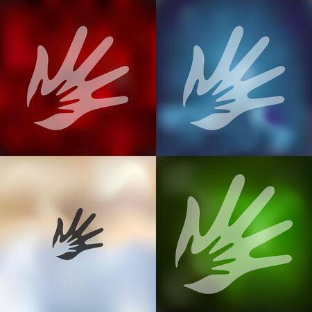 devotion: family icon on blurred background Illustration