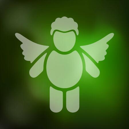 seducer: angel icon on blurred background