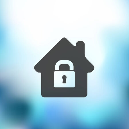 parapet wall: house icon on blurred background Illustration