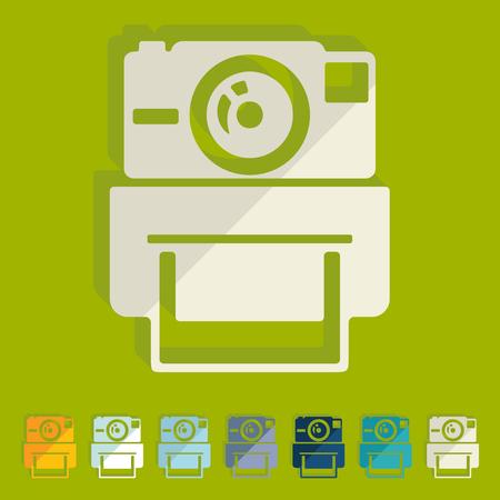 photocamera: Flat design: old photocamera