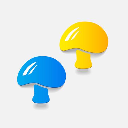 realistic design element: mushroom