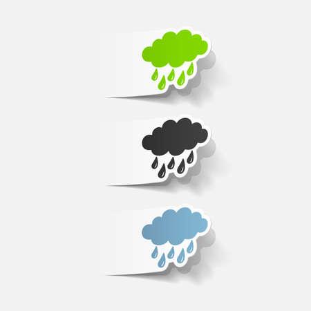 prognosis: realistic design element: cloud, rain