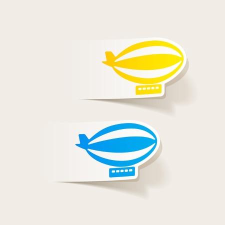 luftschiff: realistischen Design-Element: Luftschiff