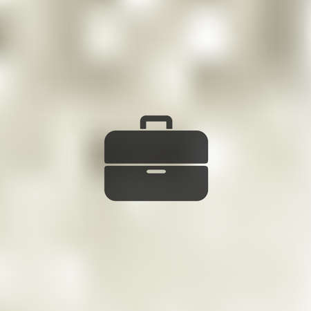 portfolio icon: portfolio icon on blurred background