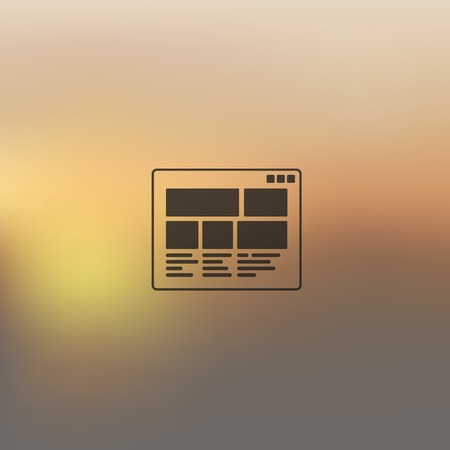 interface icon: interface icon on blurred background