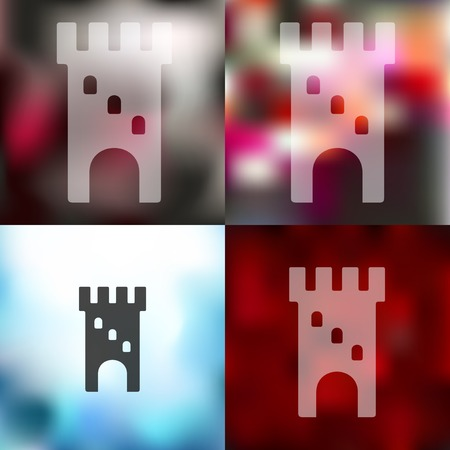 loophole: fortress icon on blurred background
