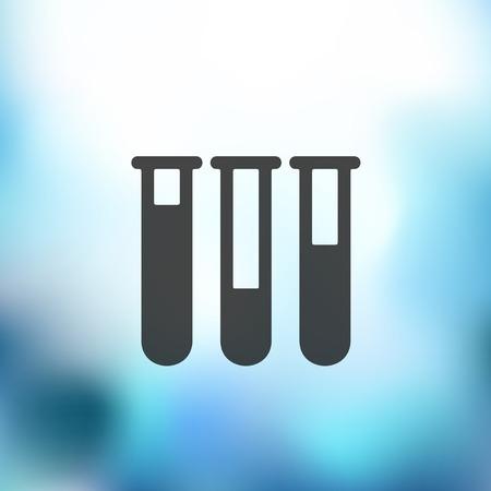 sterilization: medicine icon on blurred background