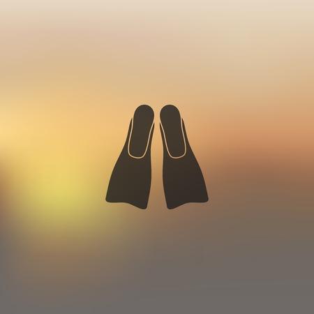 flipper: flipper icon on blurred background
