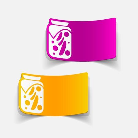 pickled: realistic design element: pickled vegetables Illustration