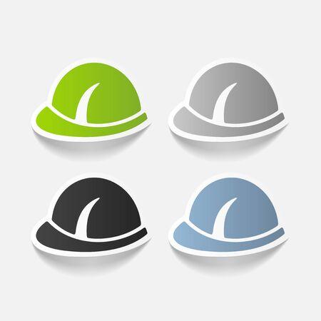 hat with visor: realistic design element: helmet Illustration