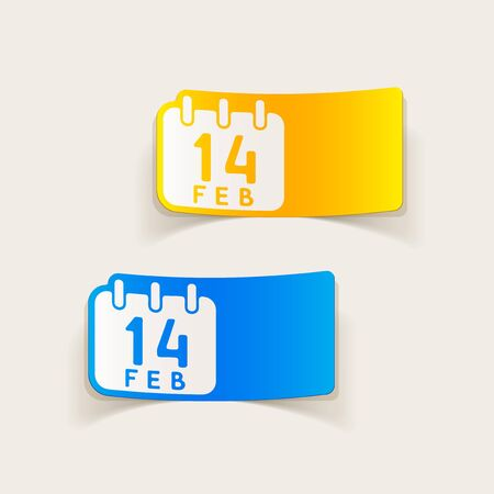 realistic design element: Valentine Vector