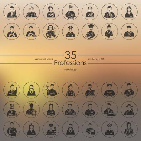 merchandiser: Set of professions icons
