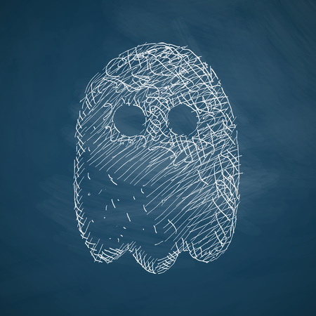 ghost character: ghost icon Illustration