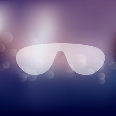 miopia: occhiali da sole icona sullo sfondo sfocato