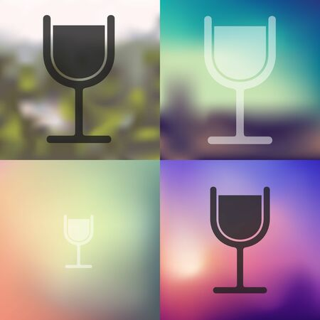 spirituous: cocktail icon on blurred background