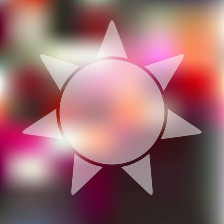 luminary: sun icon on blurred background