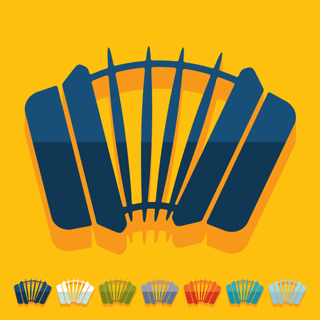 accordion: Flat design: accordion Illustration