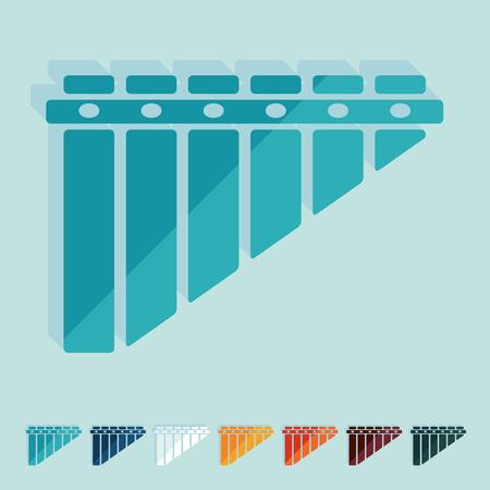 zampona: Diseño plano: zampoñas