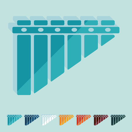panpipes: Flat design: panpipes Illustration