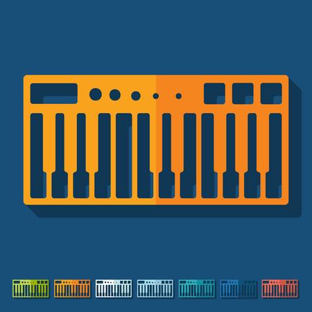 synthesizer: Flat design: synthesizer
