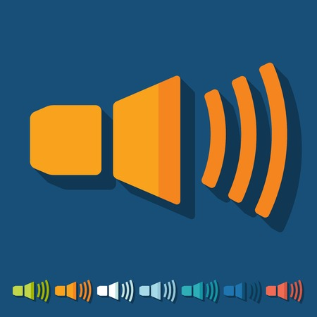 oscillations: Flat design: sound on Illustration