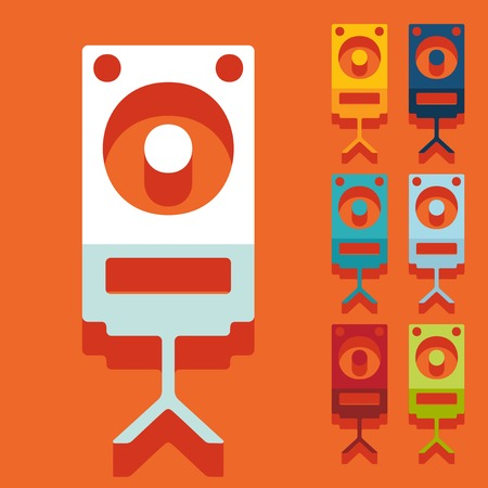 Flat design: large audio speaker Illustration
