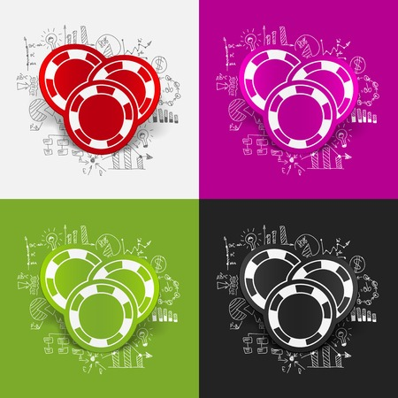 Drawing business formulas: casino chips Vector