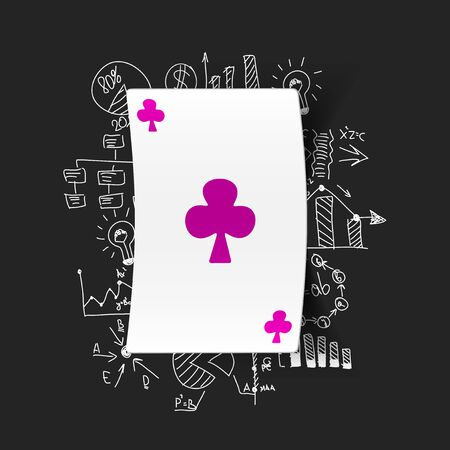 Drawing business formulas: playing card Vector