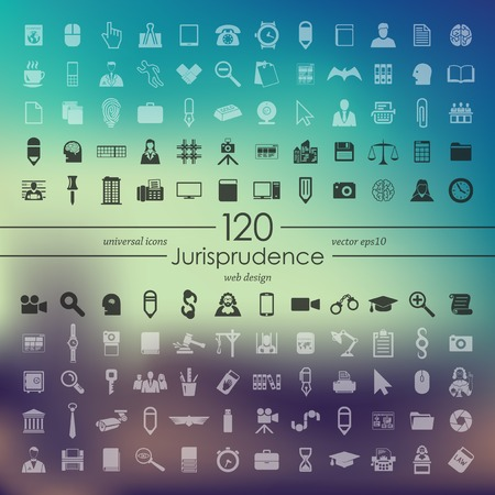 juror: Set of jurisprudence icons Illustration