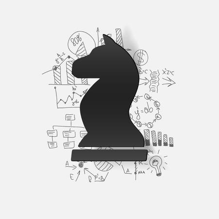 chess: Dibujo fórmulas de negocio: ajedrez