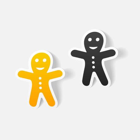 gingerbread man: realistic design element: gingerbread man