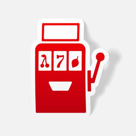 slot machine: realistic design element: slot machine