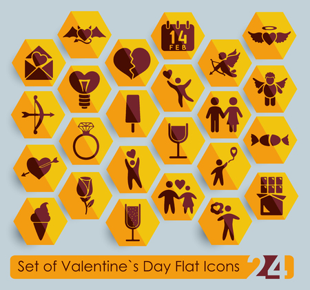 closeness: Set of Valentines Day icons