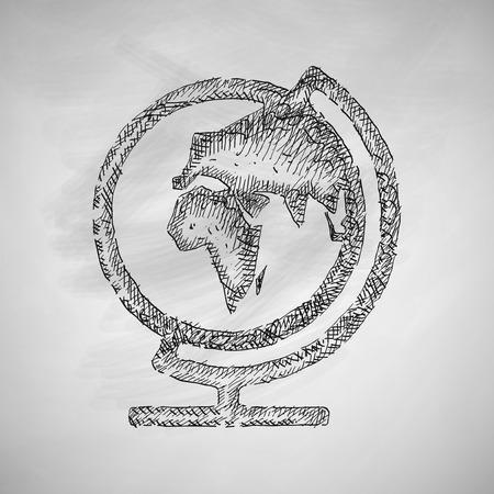 revolves: globe icon Illustration