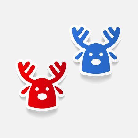 christmas deer: realistic design element: christmas deer Illustration