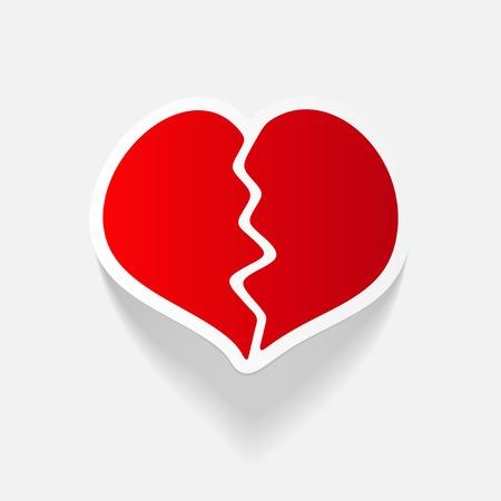 réaliste élément de design: le coeur brisé