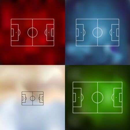 playing field: playing field icon on blurred background