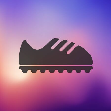 shoelaces: sneakers icon on blurred background