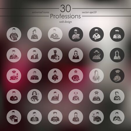 professionalism: Set of professions icons