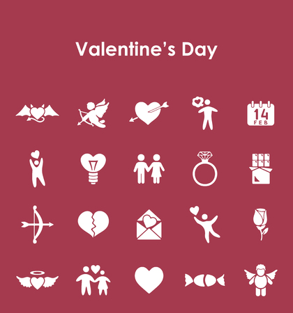 closeness: Set of Valentines Day simple icons