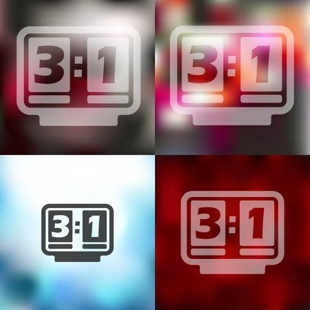 score board: score board icon on blurred background