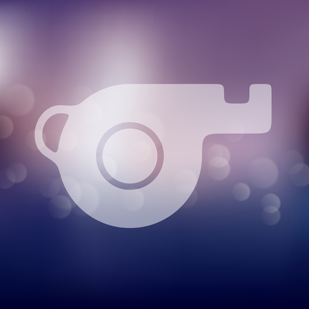 trill: whistle icon on blurred background Illustration