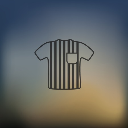 trill: referee icon on blurred background