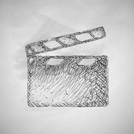 storyboard: clapper cinema icon Illustration