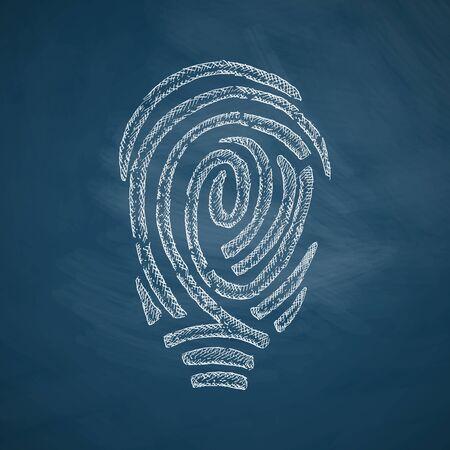 fingerprint icon Illustration