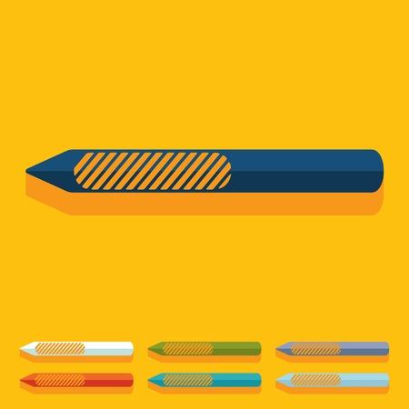 resurfacing: Flat design: nail file Illustration